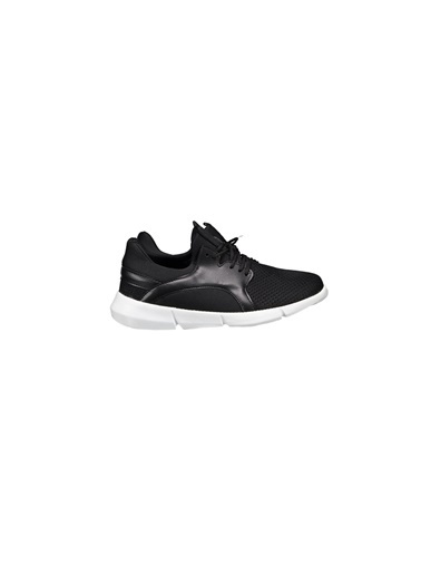 Collezione Siyah Delikli Bağcıklı Kadın Sneaker Siyah